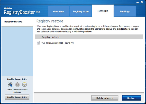 Registry Boost 2011 Start Scan