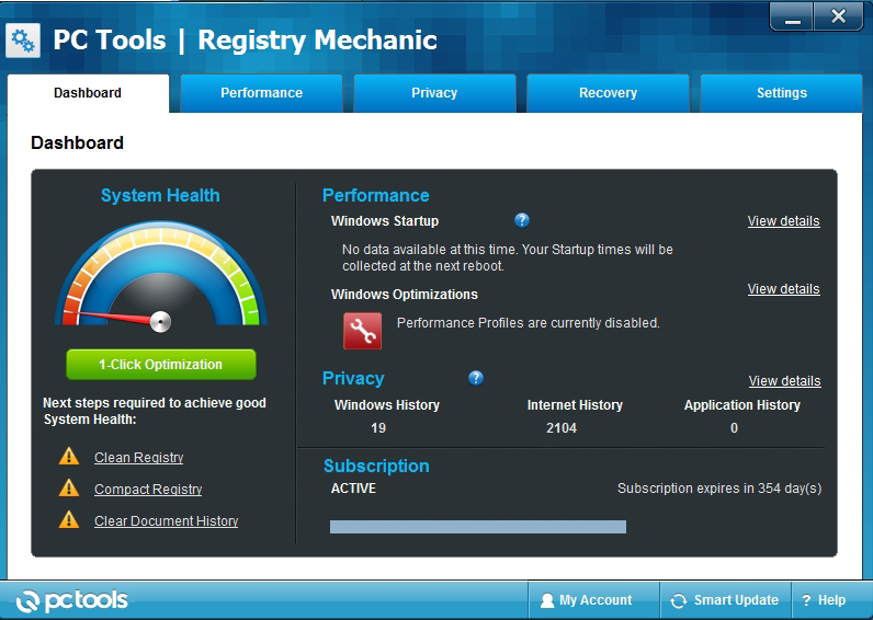 registry mechanic dashboard